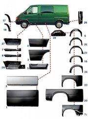 Купить кузовные автозапчасти к Форд Транзит 1986-2006