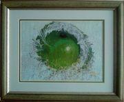 Картина «Сочное яблоко», ручная работа