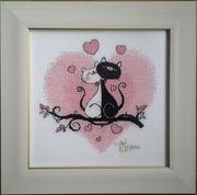 Картина «Это любовь»,  ручная работа,  вышивка.