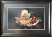 Картина «Дыня и персики», ручная работа,  вышивка.
