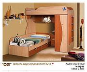 Кровать двухъярусная КМК 0252   ДОСТАВКА БЕСПЛАТНО!!!