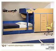 Кровать двухъярусная КМК 0251    ДОСТАВКА БЕСПЛАТНО!!!