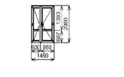 Распродажа Окон Пвх Дверь балконная ОК- 39