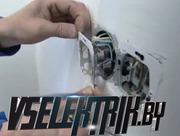 Замена розетки электроплиты,  варочной панели,  ремонт,  подключение