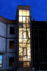 Световые перфорированные фасады