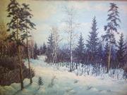 Картины холст масло живопись художник БИФ 1977гг
