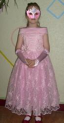 Красивое нарядное платье для девочки 6-7 лет