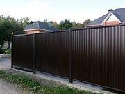 Купить металлический забор из металлопрофиля в Минске.
