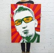 Портреты,  Поп Арт портрет  на холсте по фото