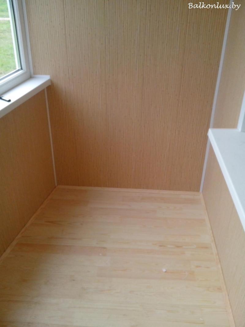 Деревянный пол на балконе укладка деревянного, минск.