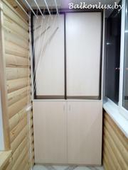 Тумбы на балкон: тумбочка и шкаф