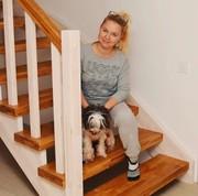 Деревянная лестница в дом. Цена Вас приятно удивит.Звоните