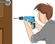 Сделаем монтаж дверей межкомнатных из МДФ,  массив, шпон-экошпон и др.