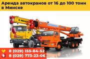 Аренда автокрана до 100 тонн  в Минске