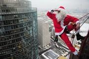 Эксклюзив поздравление – Дед Мороз в окно