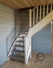 Дачная сосновая лестница . Выгодная цена. Гарантия
