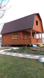 Дом Сруб из бруса 6х8. Установка на вашем участке