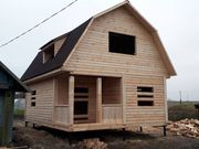 Строим Дома из бруса сруб Эмил 6х8. Установка в Ивенце