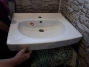 Продать не дорого раковину в ванную комнату для установки над не  высо