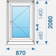Двери Пвх 870х2080 дешево профиль Rehau-3
