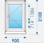 Двери Пвх 900х2100 дешево профиль Rehau-6