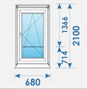 Двери Пвх 680х2100 профиль Rehau дешево