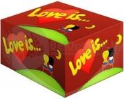 Блок жвачек Love is  Вишня-Лимон