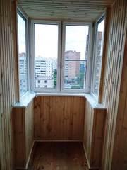 Обшивка балкона и лоджии панелями пвх и вагонкой.