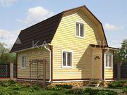 Дом 6х6 м из бруса по проекту Луисбург под ключ