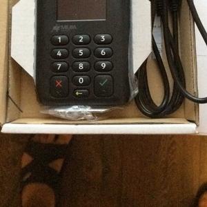 Мобильный банковский терминал для приема пластиковых карт. Новый