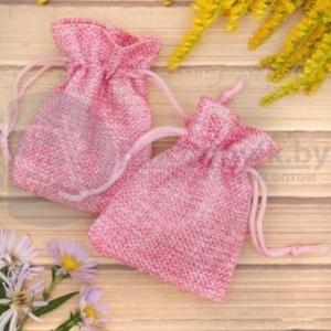 Мешочек подарочный Льняной 79,  цвет розовый