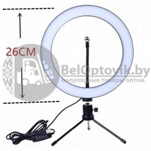Кольцевая светодиодная лампа подсветка MINI LED 160 d26 см  ШТАТИВ