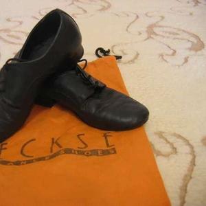 Туфли для мальчика танцевальные,  натуральная кожа,  чёрные,  размер 34