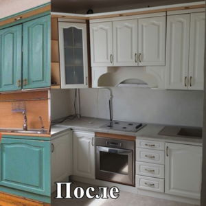 Покраска кухонных фасадов в Минске (реставрация)