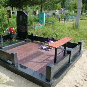 Памятники, ограды, благоустройство.Западное Кладбище