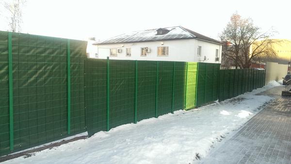 Сетка ткань для ограждения ПП200 (зеленая) 3*50м 6