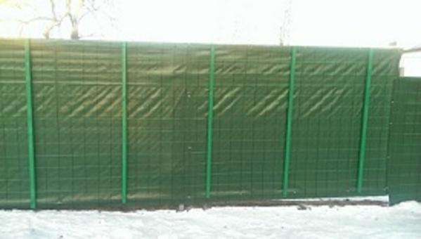 Сетка ткань для ограждения ПП200 (зеленая) 3*50м 7