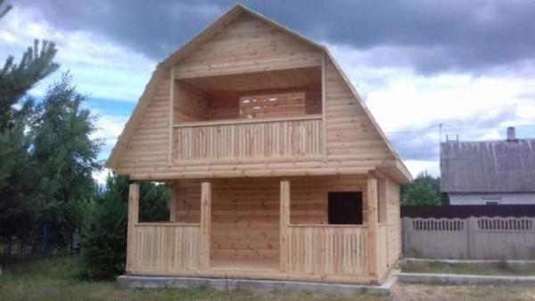 Строим Дома из бруса сруб Верона 6х6. Зеленый Бор 5