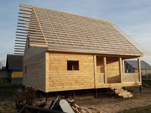 Строим Дома из бруса сруб Антон 9×9м в Заславле 2