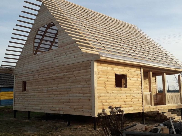 Строим Дома из бруса сруб Антон 9×9м в Заславле 3