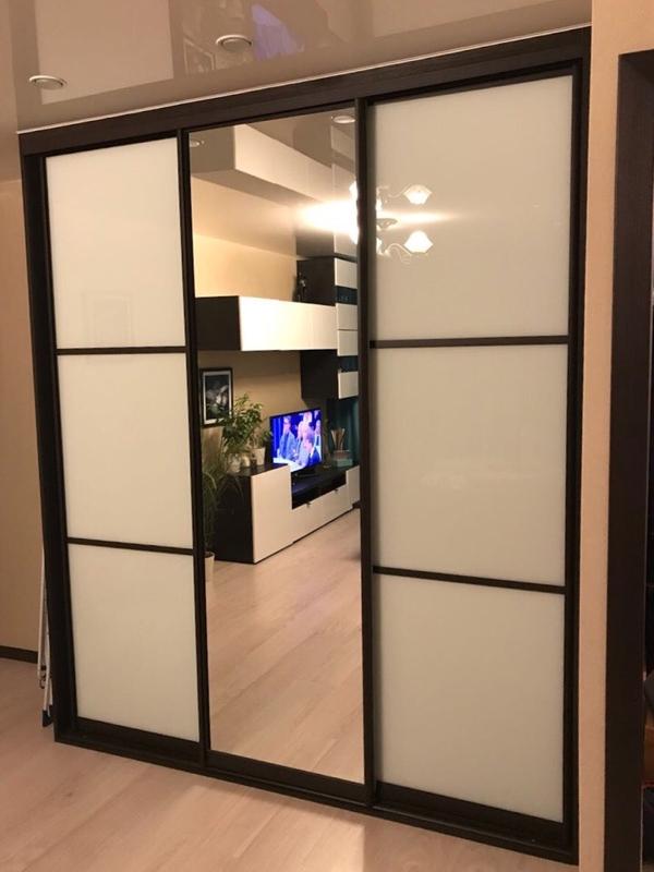 Шкаф-купе изготовим с комбинированными дверями под заказ 6