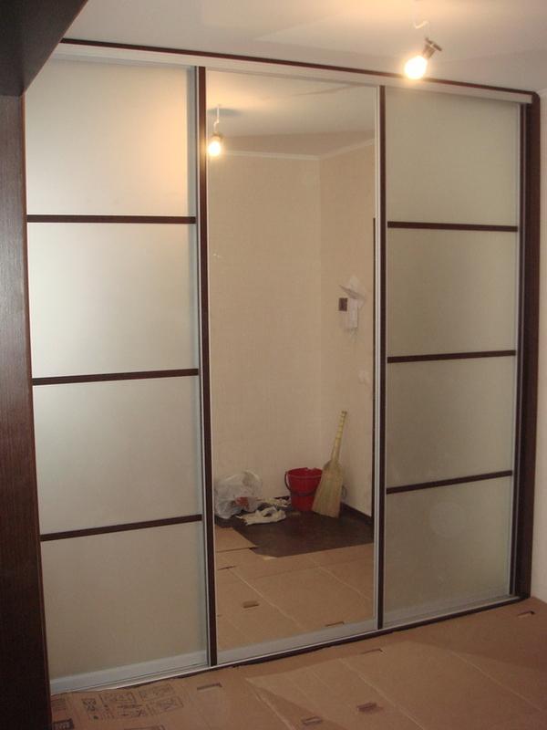 Шкаф-купе изготовим с комбинированными дверями под заказ 7