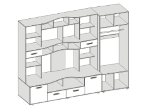 Секция в гостиную Фиджи со шкафом (3.05 м.) 5