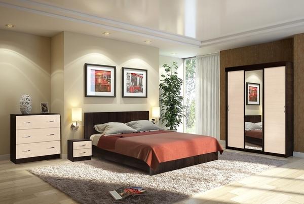 Комплект для спальни Онтарио 3 8