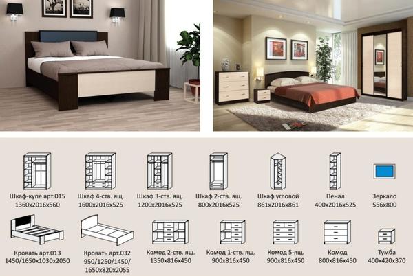 Комплект для спальни Онтарио 3 9