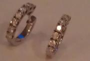 сережки с бриллиантами белое золото
