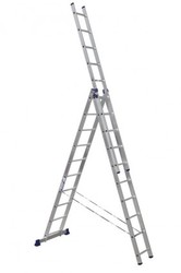 Лестница трёхсекционная монтажная алюминиевая 3x10 ступеней Н3 5310 Алюмет
