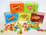 Оригинальная жвачка Love is/Лав из - подарок любимым