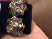 Серьги серебрянные с натуральными камнями