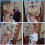 Женская стрижка в парикмахерской Море красоты